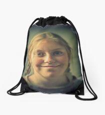 Sophia 31.3.14 portrait 1 Drawstring Bag
