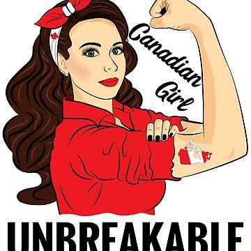Canadian Flag Girl Unbreakable Canada by ZNOVANNA
