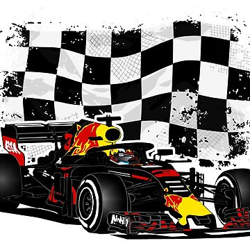 Formula 1 - Ricciardo - Racing Flag by Port-Stevens