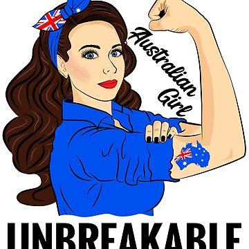 Australian Flag Girl Unbreakable Australia by ZNOVANNA