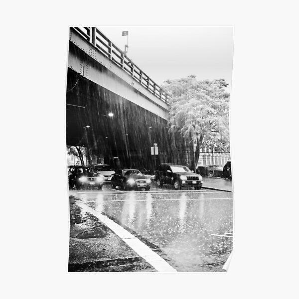 Brooklyn in the rain Poster
