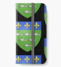 French France Coat of Arms 13595 Blason ville fr Loches Indre et Loire iPhone Wallet/Case/Skin