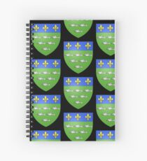 French France Coat of Arms 13595 Blason ville fr Loches Indre et Loire Spiral Notebook