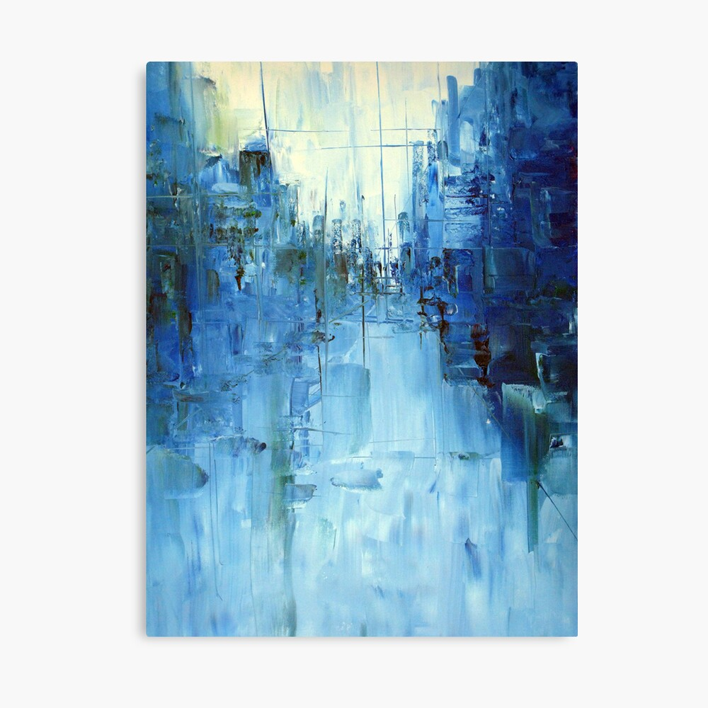 Cold #3 Abstract cityscape Canvas Print