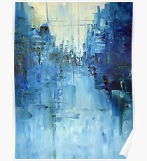 Cold #3 Abstract cityscape Poster