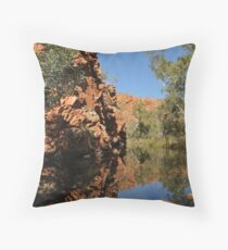 The Desert Queen's Bath Throw Pillow