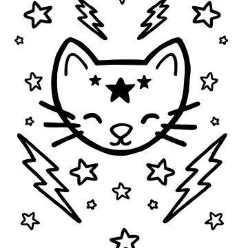Mystic Cat - Black by evannave