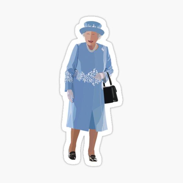Queen Elizabeth Blue Sticker Sticker