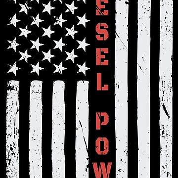 Diesel Power American Flag USA by AlmostBrand