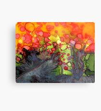 Release - Abstract Painting Metal Print