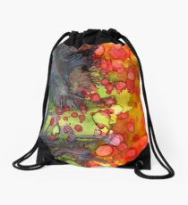 Release - Abstract Painting Drawstring Bag