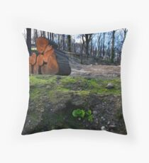 Hope Amidst Destruction Throw Pillow