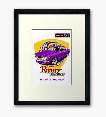Mazda RX3 Retro Purple Power Framed Print