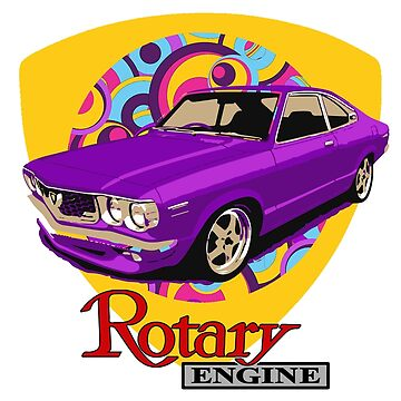 Mazda RX3 Retro Purple Power by harrisonformula