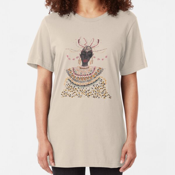 African lady Slim Fit T-Shirt