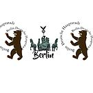 Berlin Bear and Brandenburg Gate by edsimoneit