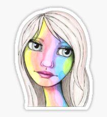 She Loves In Color Sticker