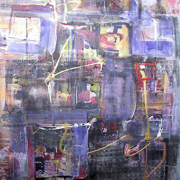 Night Wizard Of Concrete Jungle, original Abstract by musicaroundus
