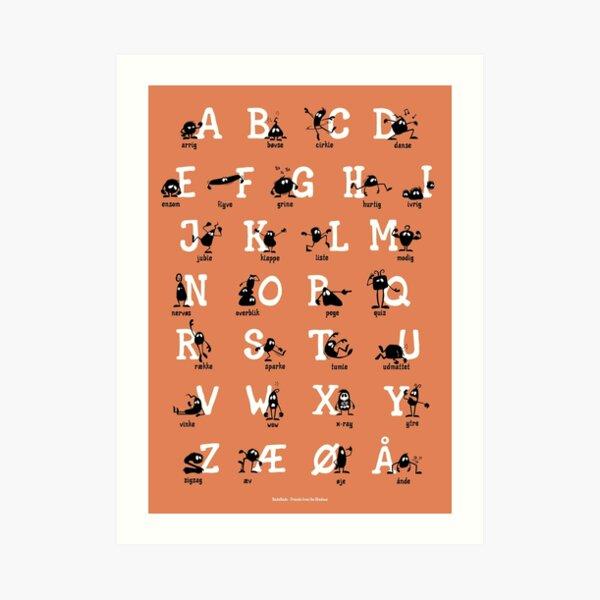 Alfabet - Orange Art Print