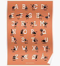 Alfabet - Orange Poster