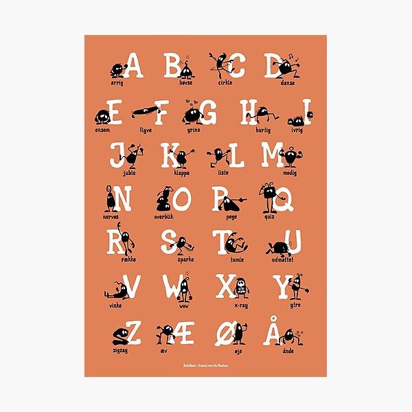 Alfabet - Orange Photographic Print