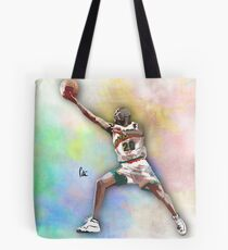 Hand Drawn Basketball Player - The Glove Tote Bag