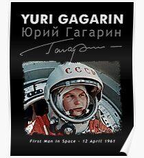 Juri Gagarin - Erster Mann im Raum-UdSSR-CCCP-Astronomie-Herd-Raumschiff-Sowjet Poster