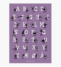 Alfabet - Lilla  Photographic Print