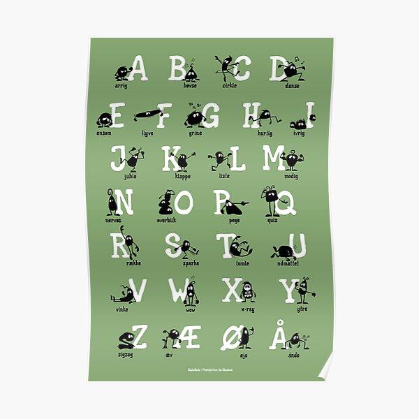 Alfabet - Grøn Poster