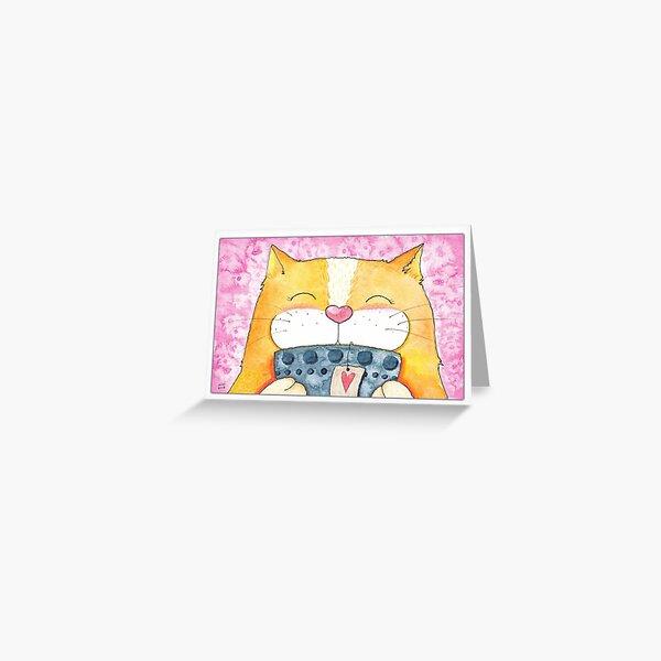 Happy Tea Time Kitty Card Greeting Card