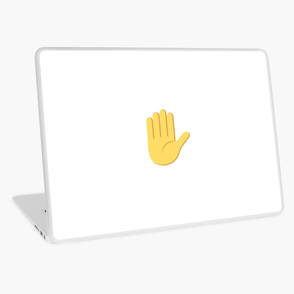 high five emoji laptop skin by cleanonpoint redbubble high five emoji laptop skin by cleanonpoint redbubble