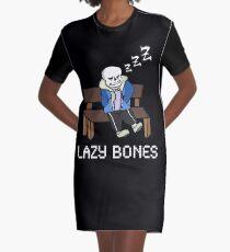 Lazy Bones- Undertale Sans Graphic T-Shirt Dress