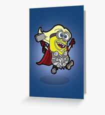 Minions Assemble - Lord of Thunder, Prince of Mingard Greeting Card