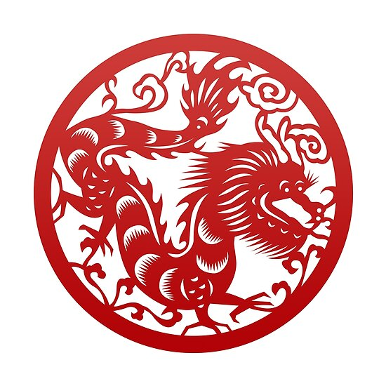 Chinese Zodiac Dragon in Red by Takeda-art