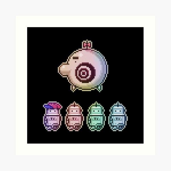 Time Traveleing Soulbots Art Print