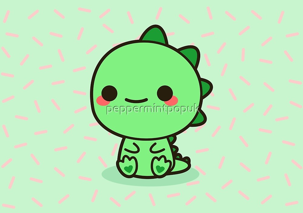 Quot Kawaii Dinosaur Quot By Peppermintpopuk Redbubble