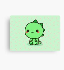 Kawaii Dinosaur Canvas Print