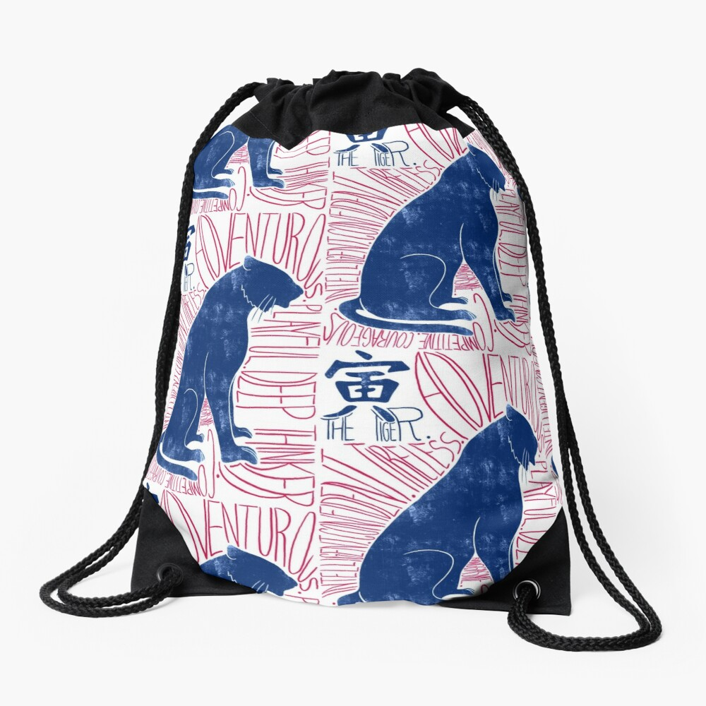 The Tiger Chinese Zodiac Sign Drawstring Bag