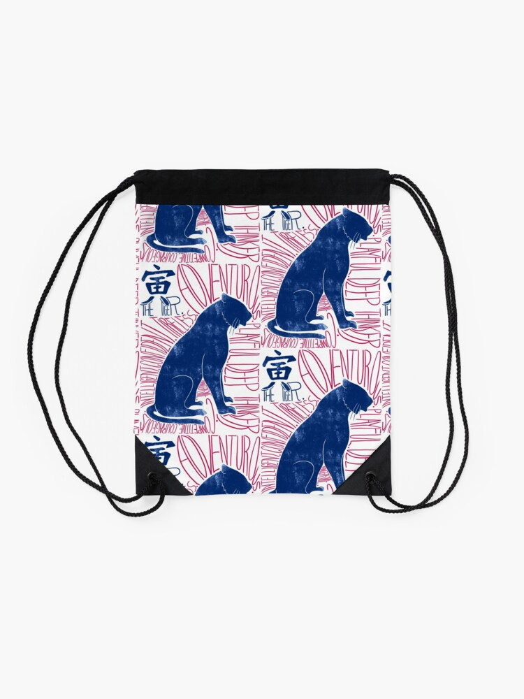 Alternate view of The Tiger Chinese Zodiac Sign Drawstring Bag