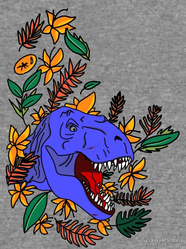 Heller blauer Dinosaurier von randomcreator