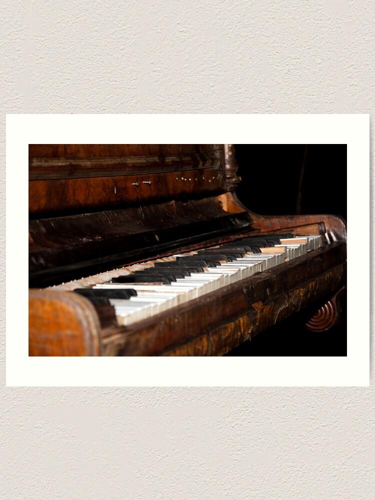 Alternate view of The piano Art Print