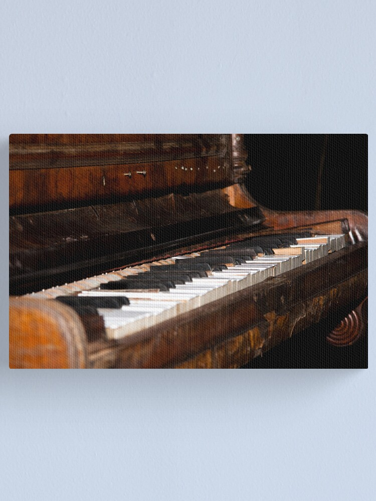 Alternate view of The piano Canvas Print
