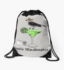 Tequila Mockingbird Drawstring Bag