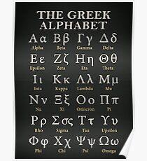 The Greek Alphabet Poster