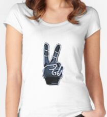 Peace Hand Sign Women's Fitted Scoop T-Shirt