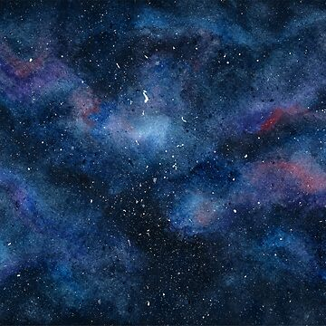 Watercolour Galaxy by christinaashman