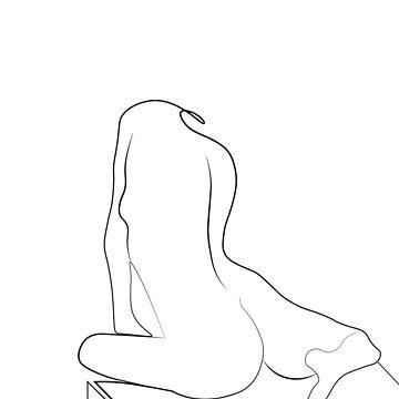Elegant Line Woman Portrait by draw4you