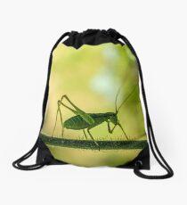 cricket in green  Drawstring Bag