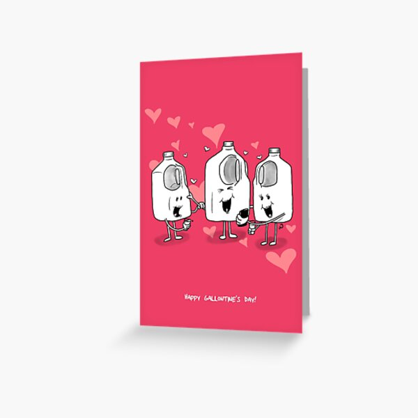 Happy Gallontine's Day Greeting Card