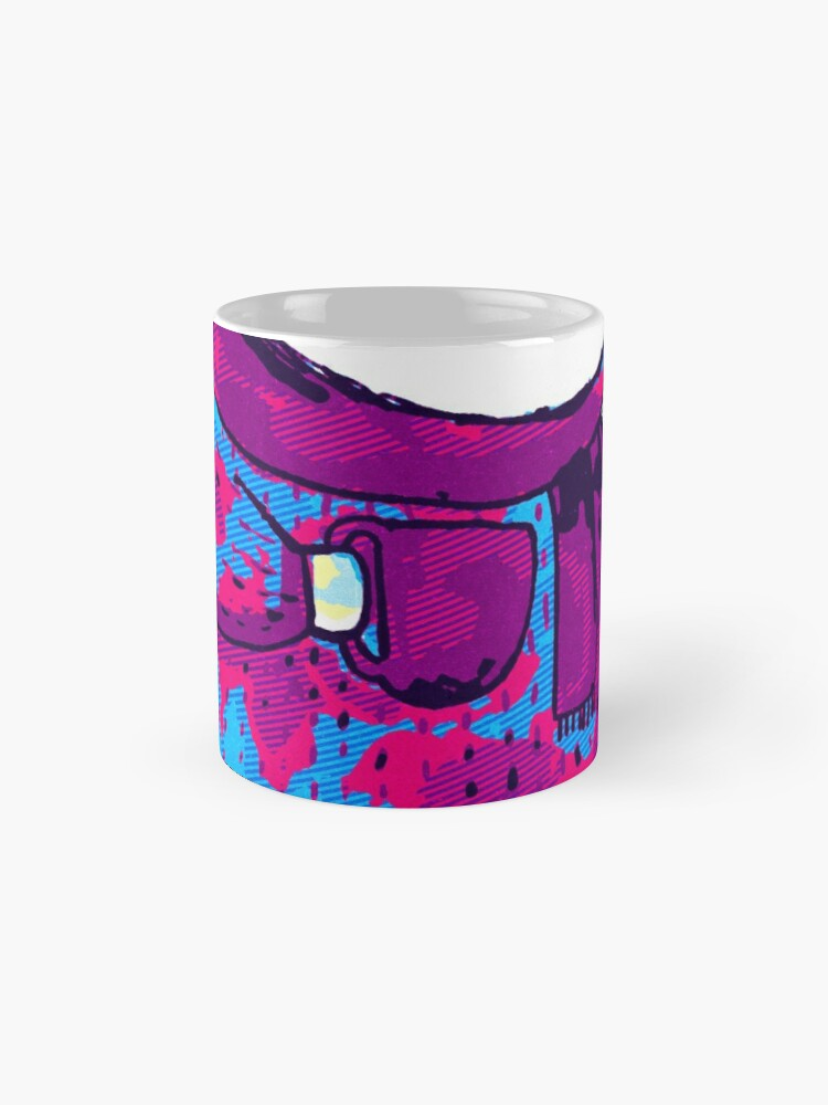Vista alternativa de Taza Polar bear cute bear Eighties Retro Violet and Purple